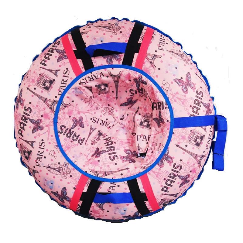 "Тюбинг - ватрушка | Розовый ""Париж"""
