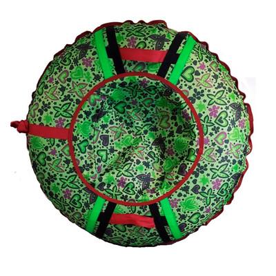 Тюбинг - ватрушка | Зеленый Бабочки с цветами