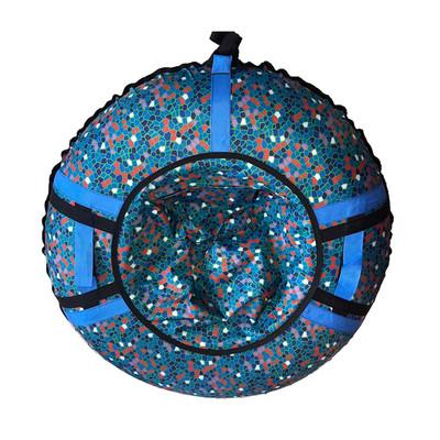 Тюбинг - ватрушка | Синий витражный