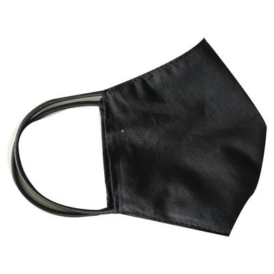 Маска-лодочка черная защитная тканевая, многоразовая от 10 шт.
